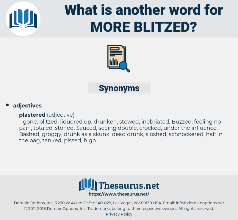 more blitzed, synonym more blitzed, another word for more blitzed, words like more blitzed, thesaurus more blitzed