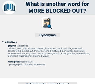 more blocked out, synonym more blocked out, another word for more blocked out, words like more blocked out, thesaurus more blocked out