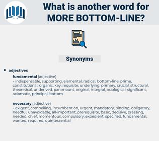 more bottom-line, synonym more bottom-line, another word for more bottom-line, words like more bottom-line, thesaurus more bottom-line