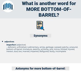 more bottom-of-barrel, synonym more bottom-of-barrel, another word for more bottom-of-barrel, words like more bottom-of-barrel, thesaurus more bottom-of-barrel