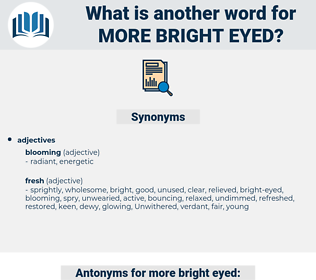 more bright eyed, synonym more bright eyed, another word for more bright eyed, words like more bright eyed, thesaurus more bright eyed