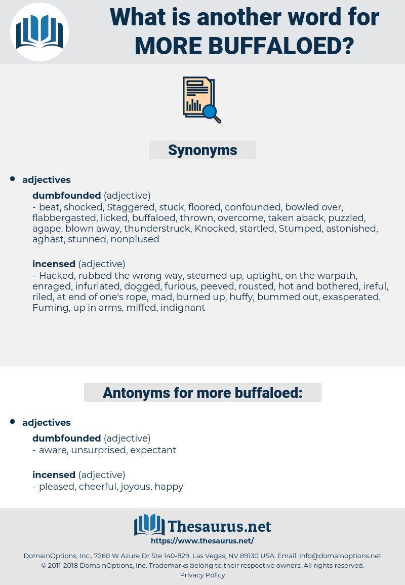 more buffaloed, synonym more buffaloed, another word for more buffaloed, words like more buffaloed, thesaurus more buffaloed