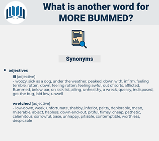 more bummed, synonym more bummed, another word for more bummed, words like more bummed, thesaurus more bummed