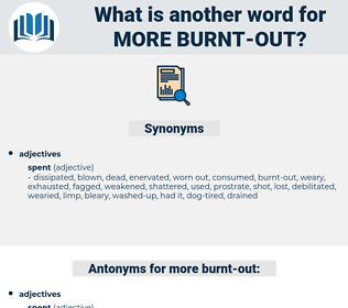 more burnt out, synonym more burnt out, another word for more burnt out, words like more burnt out, thesaurus more burnt out