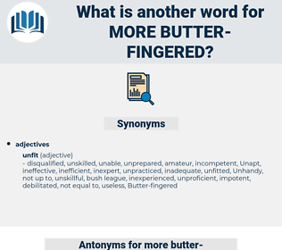 more butter fingered, synonym more butter fingered, another word for more butter fingered, words like more butter fingered, thesaurus more butter fingered