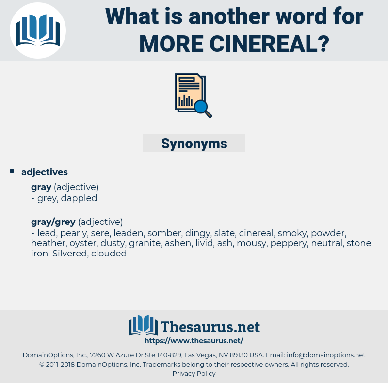 more cinereal, synonym more cinereal, another word for more cinereal, words like more cinereal, thesaurus more cinereal