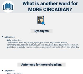 more circadian, synonym more circadian, another word for more circadian, words like more circadian, thesaurus more circadian