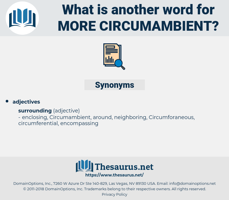 more circumambient, synonym more circumambient, another word for more circumambient, words like more circumambient, thesaurus more circumambient