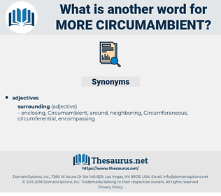 more circumambient, synonym more circumambient, another word for more circumambient, words like more circumambient, thesaurus more circumambient