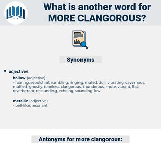 more clangorous, synonym more clangorous, another word for more clangorous, words like more clangorous, thesaurus more clangorous