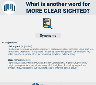 more clear sighted, synonym more clear sighted, another word for more clear sighted, words like more clear sighted, thesaurus more clear sighted