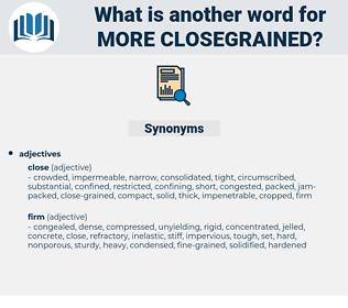 more closegrained, synonym more closegrained, another word for more closegrained, words like more closegrained, thesaurus more closegrained