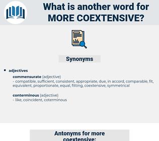 more coextensive, synonym more coextensive, another word for more coextensive, words like more coextensive, thesaurus more coextensive