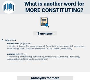 more constituting, synonym more constituting, another word for more constituting, words like more constituting, thesaurus more constituting