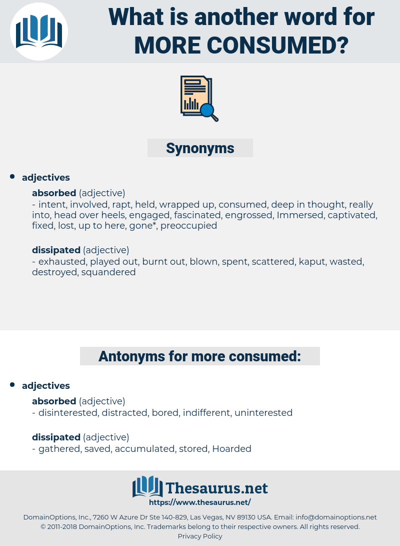 more consumed, synonym more consumed, another word for more consumed, words like more consumed, thesaurus more consumed