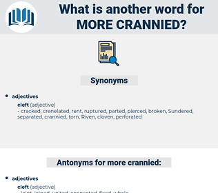 more crannied, synonym more crannied, another word for more crannied, words like more crannied, thesaurus more crannied