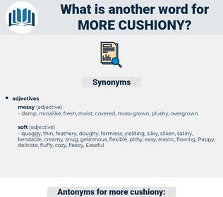 more cushiony, synonym more cushiony, another word for more cushiony, words like more cushiony, thesaurus more cushiony