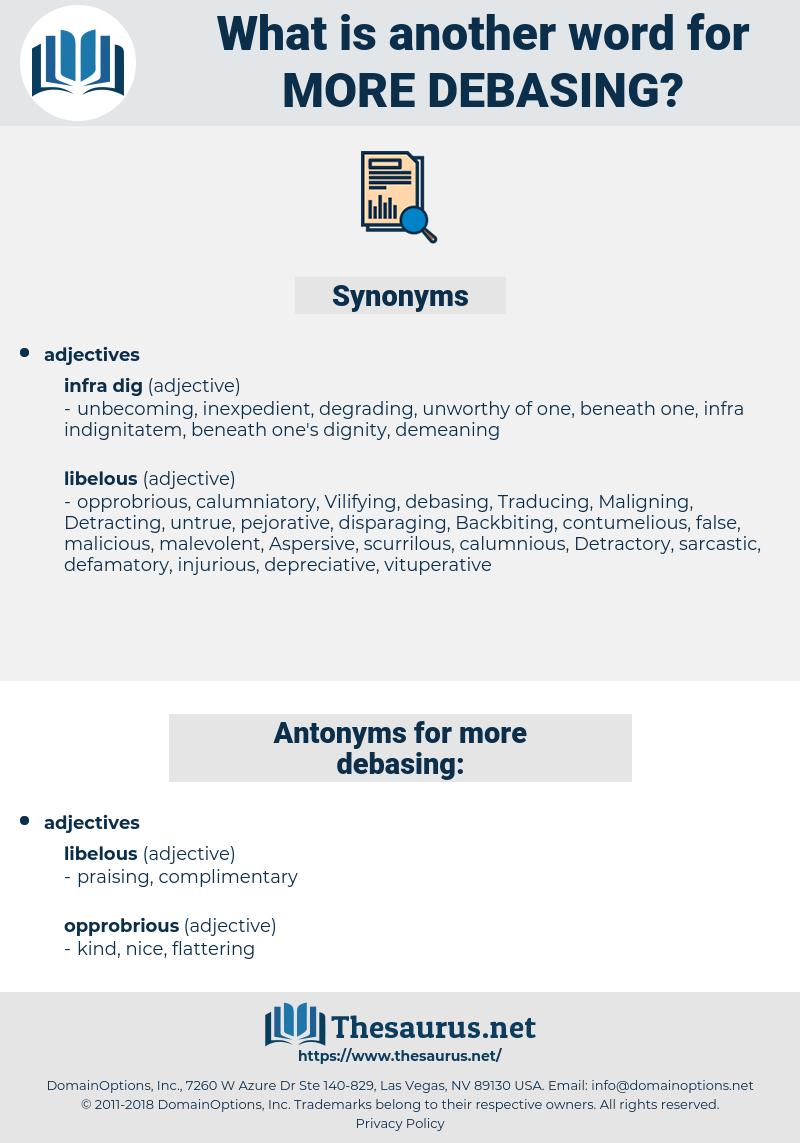 more debasing, synonym more debasing, another word for more debasing, words like more debasing, thesaurus more debasing