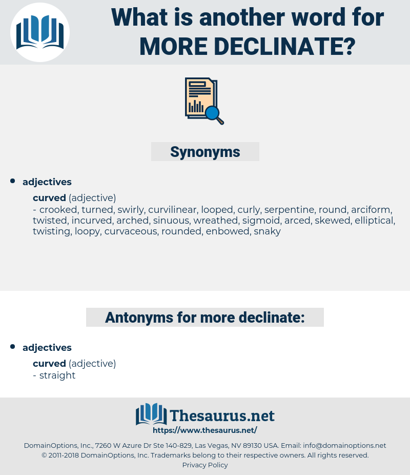 more declinate, synonym more declinate, another word for more declinate, words like more declinate, thesaurus more declinate