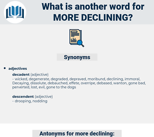 more declining, synonym more declining, another word for more declining, words like more declining, thesaurus more declining