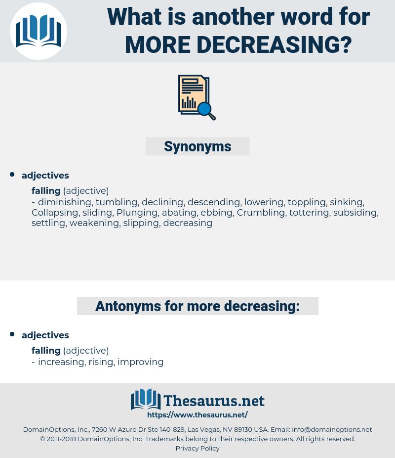 more decreasing, synonym more decreasing, another word for more decreasing, words like more decreasing, thesaurus more decreasing
