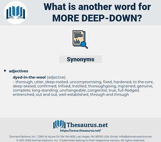 more deep down, synonym more deep down, another word for more deep down, words like more deep down, thesaurus more deep down