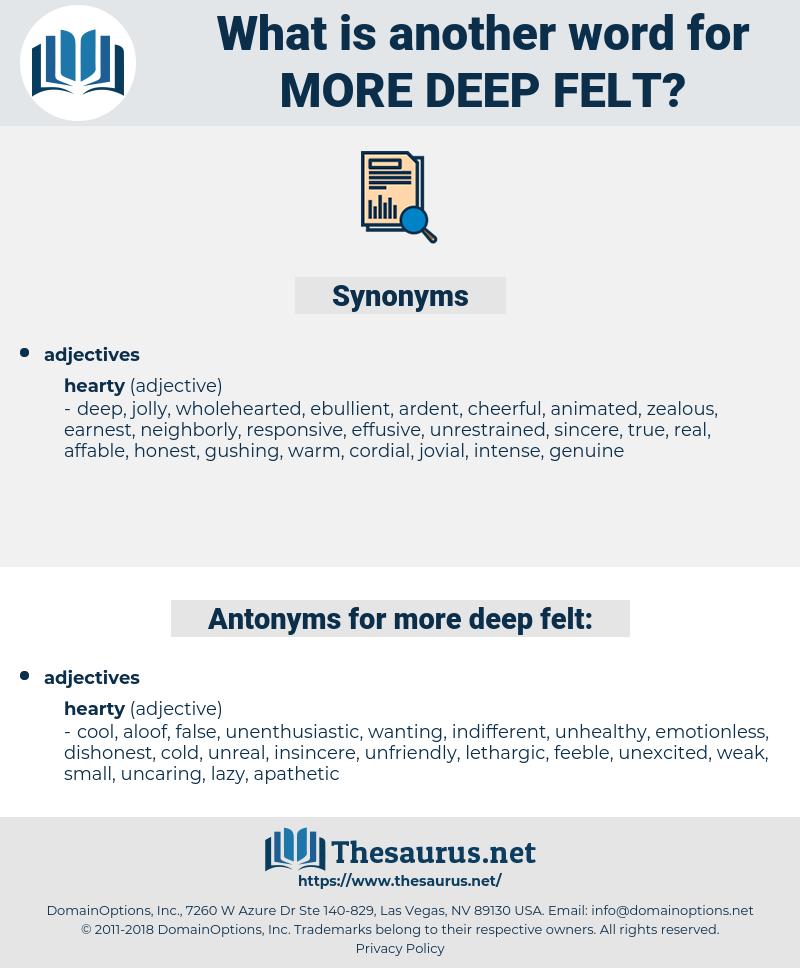 more deep felt, synonym more deep felt, another word for more deep felt, words like more deep felt, thesaurus more deep felt