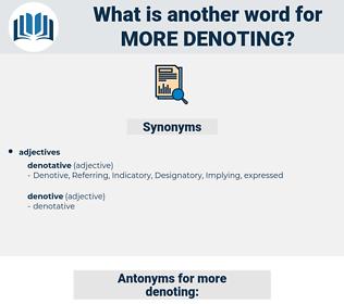 more denoting, synonym more denoting, another word for more denoting, words like more denoting, thesaurus more denoting