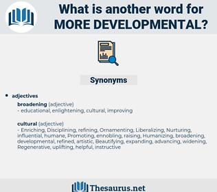 more developmental, synonym more developmental, another word for more developmental, words like more developmental, thesaurus more developmental