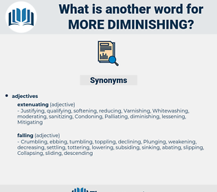 more diminishing, synonym more diminishing, another word for more diminishing, words like more diminishing, thesaurus more diminishing