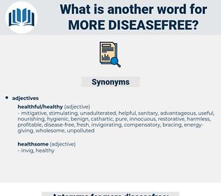 more diseasefree, synonym more diseasefree, another word for more diseasefree, words like more diseasefree, thesaurus more diseasefree