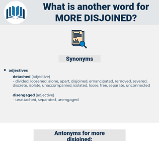 more disjoined, synonym more disjoined, another word for more disjoined, words like more disjoined, thesaurus more disjoined