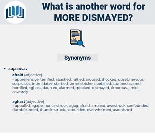 more dismayed, synonym more dismayed, another word for more dismayed, words like more dismayed, thesaurus more dismayed