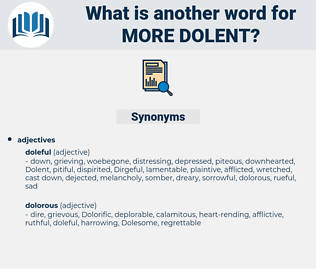 more dolent, synonym more dolent, another word for more dolent, words like more dolent, thesaurus more dolent