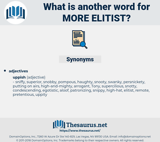 more elitist, synonym more elitist, another word for more elitist, words like more elitist, thesaurus more elitist