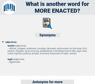 more enacted, synonym more enacted, another word for more enacted, words like more enacted, thesaurus more enacted
