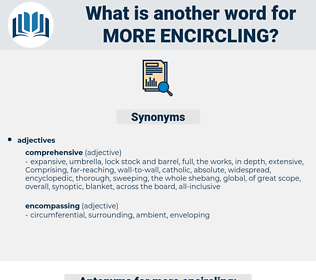 more encircling, synonym more encircling, another word for more encircling, words like more encircling, thesaurus more encircling