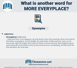 more everyplace, synonym more everyplace, another word for more everyplace, words like more everyplace, thesaurus more everyplace