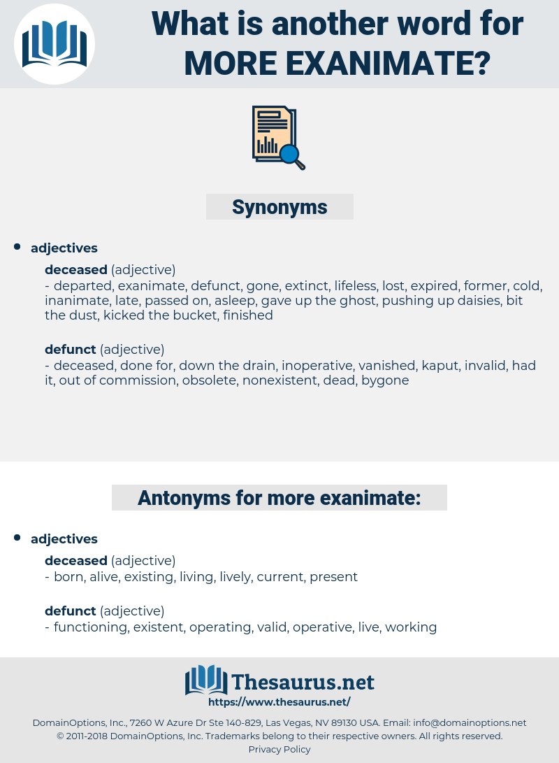 more exanimate, synonym more exanimate, another word for more exanimate, words like more exanimate, thesaurus more exanimate
