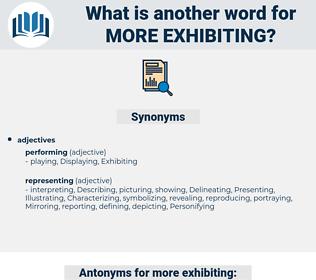 more exhibiting, synonym more exhibiting, another word for more exhibiting, words like more exhibiting, thesaurus more exhibiting