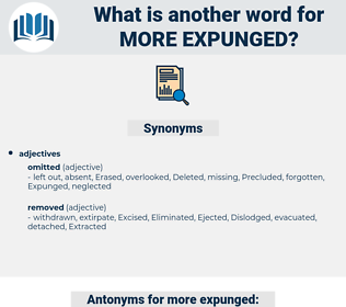 more expunged, synonym more expunged, another word for more expunged, words like more expunged, thesaurus more expunged
