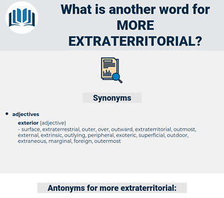 more extraterritorial, synonym more extraterritorial, another word for more extraterritorial, words like more extraterritorial, thesaurus more extraterritorial