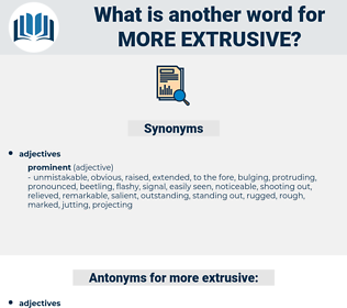 more extrusive, synonym more extrusive, another word for more extrusive, words like more extrusive, thesaurus more extrusive