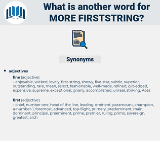 more firststring, synonym more firststring, another word for more firststring, words like more firststring, thesaurus more firststring