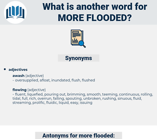 more flooded, synonym more flooded, another word for more flooded, words like more flooded, thesaurus more flooded