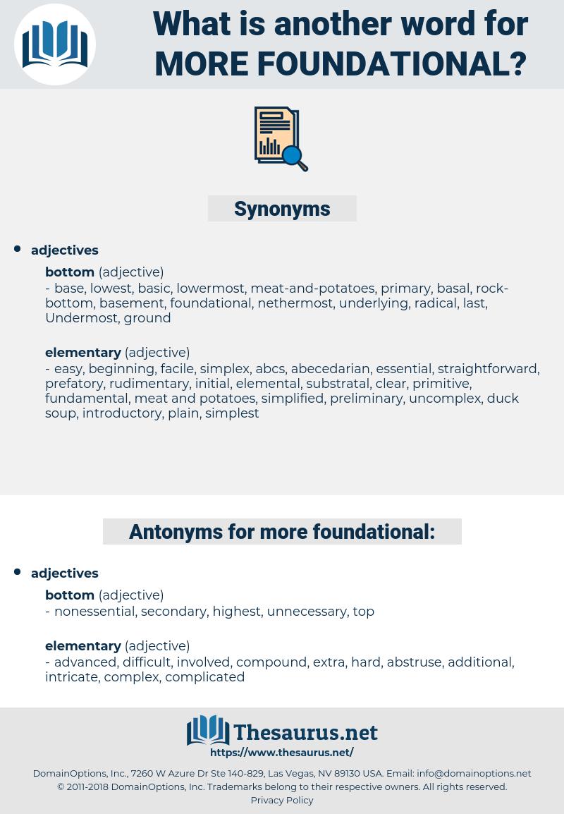more foundational, synonym more foundational, another word for more foundational, words like more foundational, thesaurus more foundational