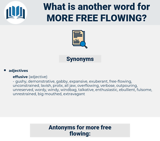 more free-flowing, synonym more free-flowing, another word for more free-flowing, words like more free-flowing, thesaurus more free-flowing