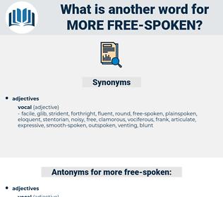 more free-spoken, synonym more free-spoken, another word for more free-spoken, words like more free-spoken, thesaurus more free-spoken