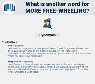 more free-wheeling, synonym more free-wheeling, another word for more free-wheeling, words like more free-wheeling, thesaurus more free-wheeling