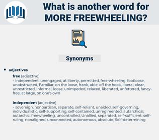 more freewheeling, synonym more freewheeling, another word for more freewheeling, words like more freewheeling, thesaurus more freewheeling
